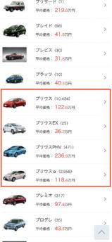 カービュー販売価格相場4